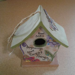 Sweet Decorated Bird House