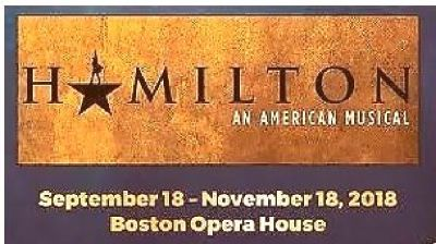 (4) Hamilton Boston Wednesday~11/7/2018~7:30 PM ~Mezzanine Left Center | Row K
