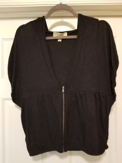 Really cute hooded zip front top from Decree, Size L