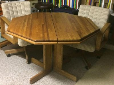 Octaganal Wood Table