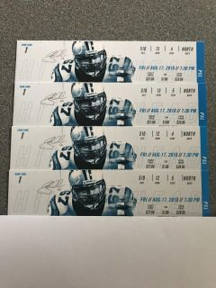 4 tickets for Panthers vs Dolphins Friday August 17