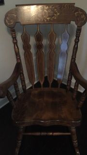 Beautiful solid wood rocking chair