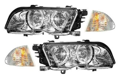 Find New CG 98-01 BMW 3-Series Projector Headlights Halo Head w Corner Lights Car motorcycle in Chino, California, US, for US $263.55