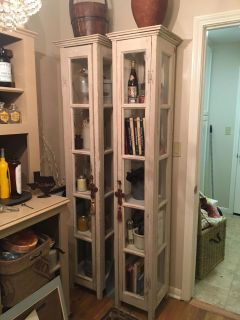 Custom made cabinets from French doors