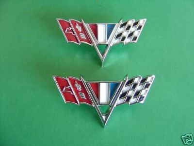 Purchase 1965-65-1966-66-1967-67 CHEVROLET NOVA & CHEVY11 FENDER EMBLEMS/FLAGS-NEW motorcycle in Ross, Ohio, US, for US $25.99