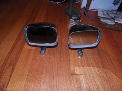 """Sell Pair of Vintage Car Truck door mirrors (4 3/4"""" x 3 1/4"""" Mirror ) truck car motorcycle in North Stonington, Connecticut, United States, for US $37.99"""