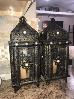 2 Beautiful Lanterns with Candle
