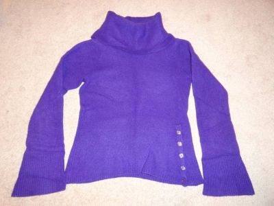 Purple roll neck sweater