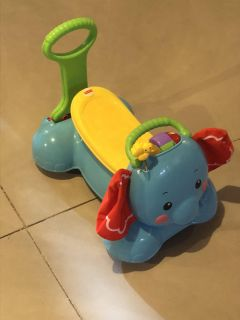 Fisher Price Elephant Push or Ride Toy