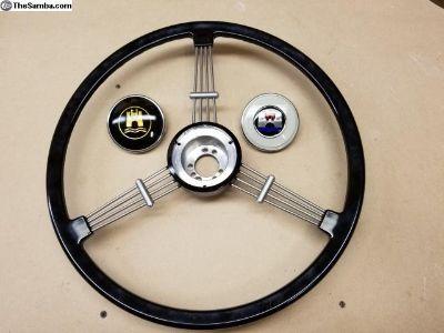 Banjo Steering Wheel Black 2 horn buttons