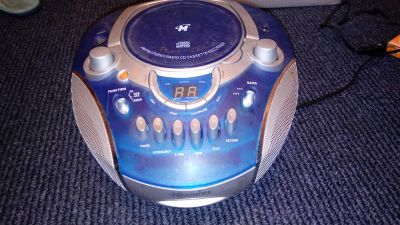 CD player with AM/FM radio and cassette recorder