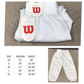 Wilson Youth Baseball Pull-Up Pants with Full Elastic