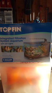 top fin 5 gallon tank with led lights