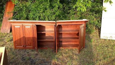 Solid Wood Office Cabinets $300 OBO