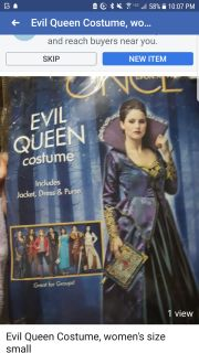 Evil Queen Costume, women's size small