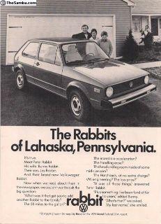 1975 1 Page VW Rabbit Ad #97