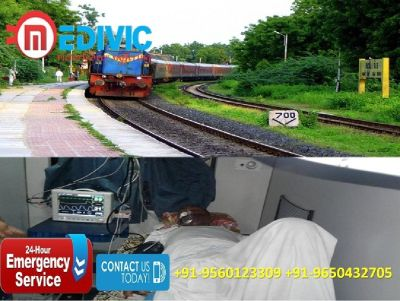 Hire Leading Commercial Train Ambulance in Delhi by Medivic