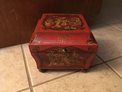 Asian Style, Red Wooden Box