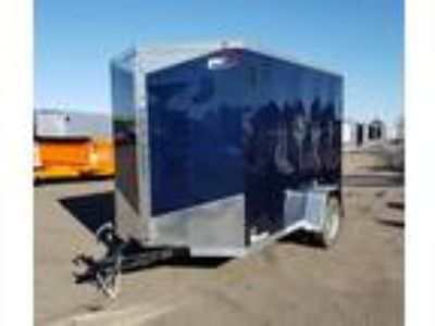 """2019 RC Trailers 6x10SA Enclosed 6'6"""" Int Cargo - Blue"""