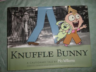 LARGE ''KNUFFLE BUNNY'' HARDCOVER BOOK WITH DUSTCOVER