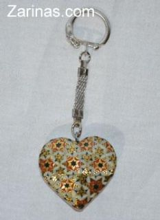 $12, Persian Iran Isfahan Heart Shaped Key Chain