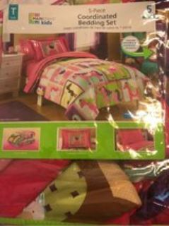 Girls Twin Bedding 5 pieces