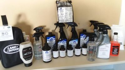 Mopar,Bmw,LandRover..car/truck detail products,leather/vinyl care products,wax,paint finish enhancer