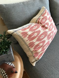 Handmade Ikat Throw Pillow
