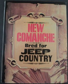 Find 1986 Jeep Comanche XLS Original Dealer Sales Brochure 2 Sided Poster motorcycle in Holts Summit, Missouri, United States, for US $17.68