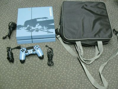 SONY PS4 CUH-1215A BLUE 500GB UNCHARTED CONSOLE BUNDLE TESTED CLEAN