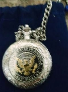 Beautiful half dollar pocket watch with eagle brand new