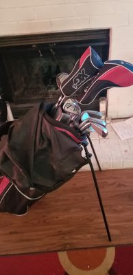 Golf clubs--balls included
