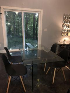 Glass Dining Room Table Modern Contemporary 2 Danes