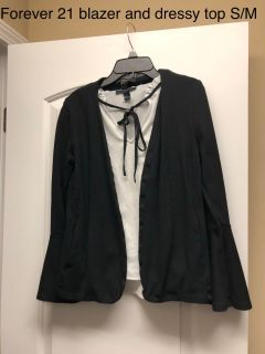 Forever 21 blazer and top size s/m