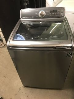 SAMSUNG TOP LOAD WASHER W/SINK 4.8 CU.FT PLATINUM LIKE NEW WORKS GREA