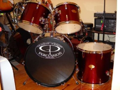 Brand New Wine Red 5 Piece Drum Set Complete