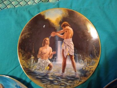 Set of 3 Franklin Mint plates ( Events of the Bible)