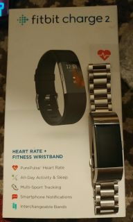 Charge 2 Fitbit with Sterling Silver band