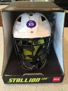 Boys Lacrosse or hockey helmet. New in box. XS