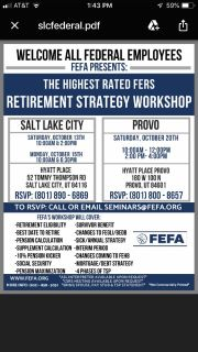 Federal employee retirement workshop