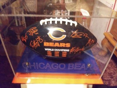 Chicago Bears Football in case