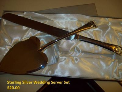 Sterling Silver Wedding Server Set