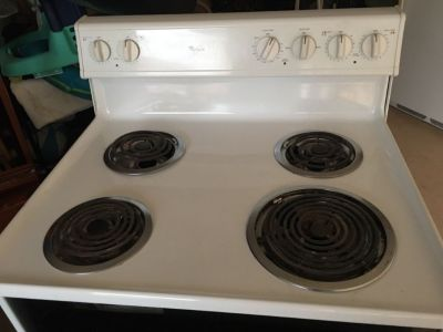 "Electric stove 30"" 220v 4 burner great shape very clean"