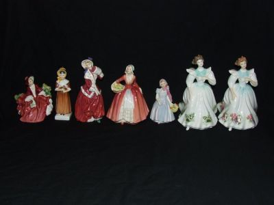 Royal Doulton Lady Figurines England Bone China Collection
