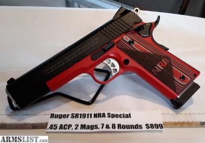 For Sale: NEW Ruger SR1911 NRA Special .45 ACP, 2 Magazines and 7 & 8 Rounds