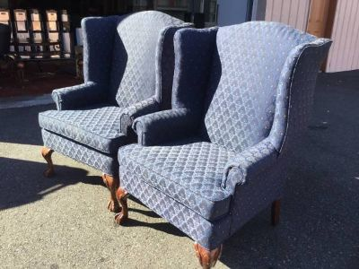 Beautiful Set of Winged Back Chairs - Delivery Available
