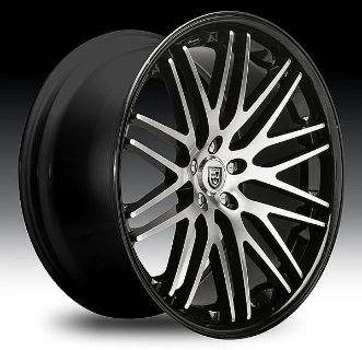 "Purchase 20"" 22"" Lexani CVX-44 Black Chrome Chevy Camaro RS SS V6 V8 Staggered Tires motorcycle in Victorville, California, US, for US $1,389.99"