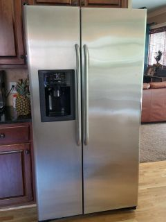 GE Stainless Side-By-Side Refrigerator