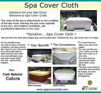 Spa Cover Cloth Because your spa cover needs love too... (San Jose, CA)