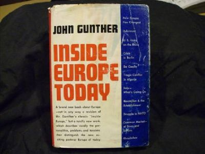 $15 Inside Europe Today by John Gunther 1961 First Edition Hardcover